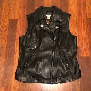 Cache Genuine Leather Moto Vest